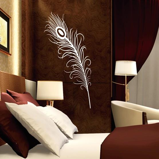 Home Decor Peacock Feather Pattern Wall Sticker Wall Decal