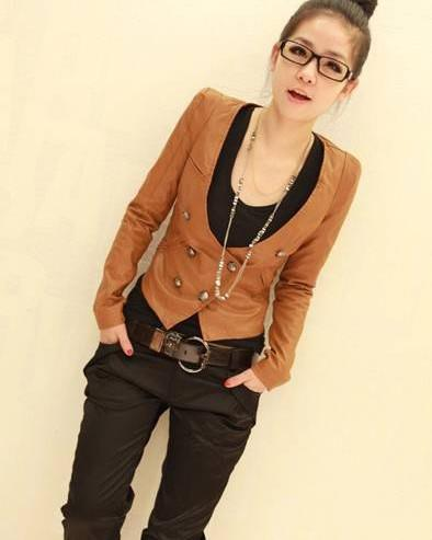 ELFSACK Vintage Women Cotton Blazers Jackets