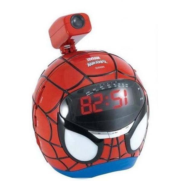 wholesale amazing spider man pattern digital radio projection alarm clock. Black Bedroom Furniture Sets. Home Design Ideas