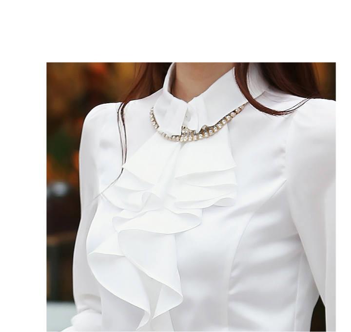 Купить Блузка С Жабо
